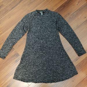 Heathered Grey Long Sleeve Dress